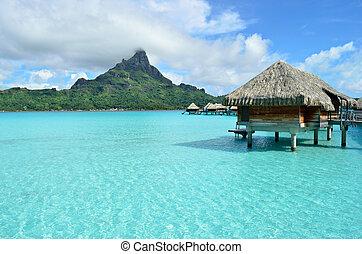 Lujo de vacaciones sobre el agua en Bora Bora