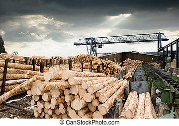 (lumber, aserradero, mill)