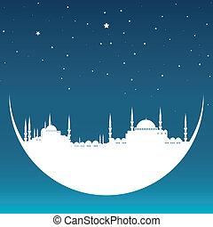 Luna con mezquita