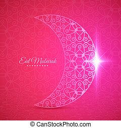 Luna para el festival comunitario musulmán eid mubarak