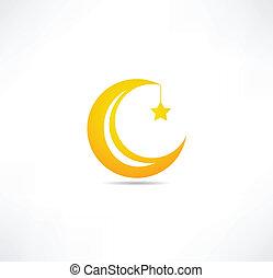 Luna y icono estelar