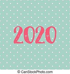 lunares, vector, 2020, tarjeta, fondo pastel