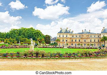 Luxemburgo palase in Paris, Francia.