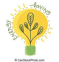 luz, ahorro, bombilla, energía