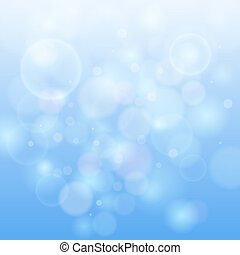 luz azul, bokeh, resumen, fondo.