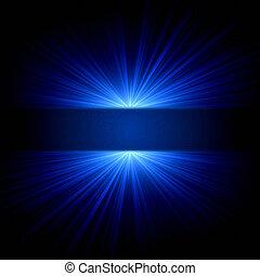 Luz azul y puntos