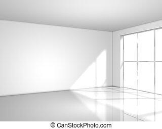 luz, blanco, ventana, habitación
