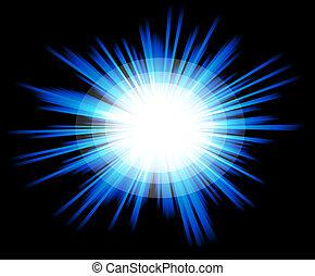 Luz brillante con colores azules