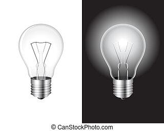 luz, bulb.