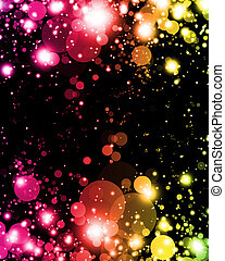 luz colorida, resumen, sombras, vibrante, emocionante