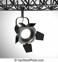 Luz espontánea, 3d de equipamiento de luz industrial
