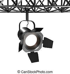 Luz espontánea, 3d de luz industrial en blanco
