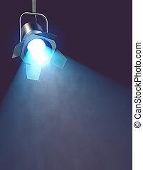 Luz espontanea, 3d de luz industrial