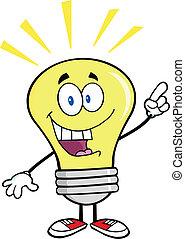 luz, idea brillante, bombilla