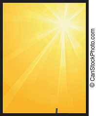 Luz solar amarilla naranja asimétrica