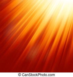 Luz solar caliente. EPS 8