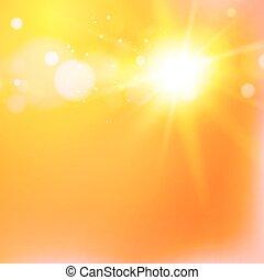 Luz solar caliente.