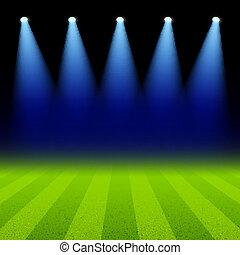Luz verde iluminada