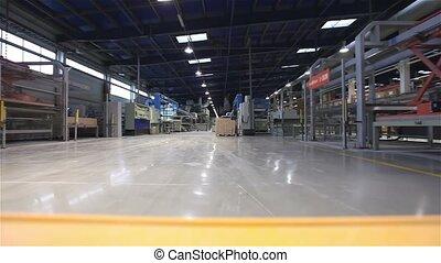 máquina, carga, fábrica, artificial, máquina, inteligencia, transportador, autónomo, automático