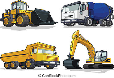 Máquina de construcción, excavadora, C