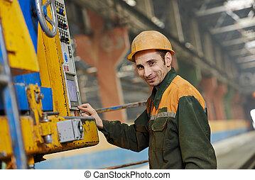 Máquina operativa industrial