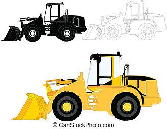 Máquinas de construcción, vector