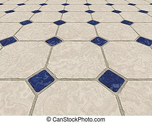 mármol, piso embaldosado