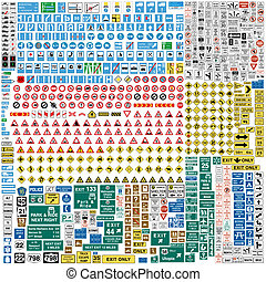 Más de 600 señales de tráfico europeo