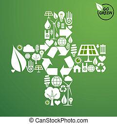 Más forma con iconos verdes