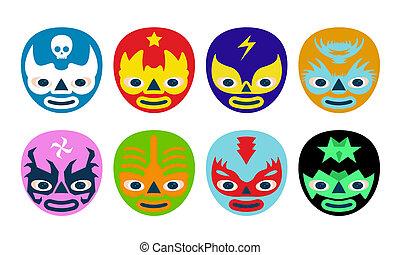 Máscara de luchador mexicano