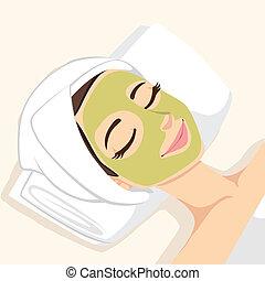 Máscara de tratamiento de acné