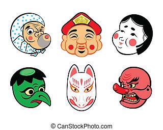 Máscaras cómicas japonesas