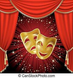 máscaras teatrales