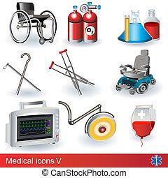 médico, 5, iconos