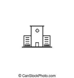 médico, hospital, icono