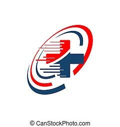 médico, internacional, vector, símbolos, ilustración, emergencia, logotipo, ambulancia