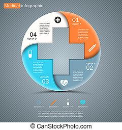 médico, moderno, proyecto, vector, plantilla, su