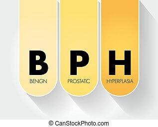 médico, siglas, prostatic, plano de fondo, benigno, -, concepto, hyperplasia, bph