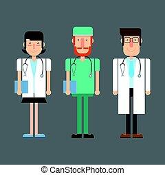 Médicos médicos. Ilustración de vectores