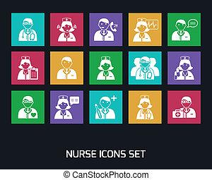 Médicos y enfermeras listos