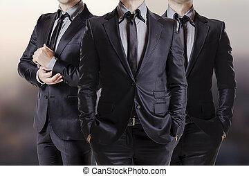 mí, empresa / negocio, imagen, tres, encima de cierre