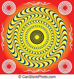 místico, anillos, (motion, illusion)