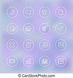 móvil, claro, ui, transparente, iconset, app