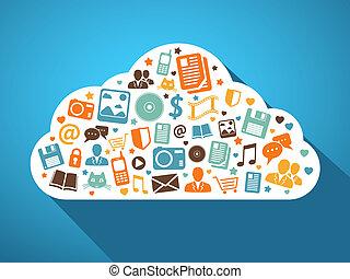 móvil, multimedia, apps, nube