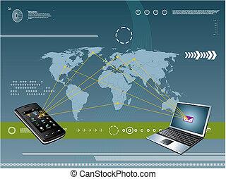 móvil, tecnología, plano de fondo