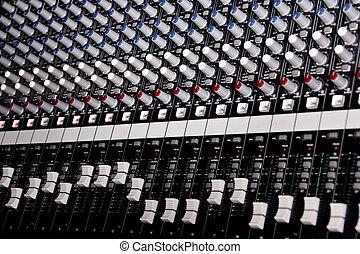 música, amplificador, batidora