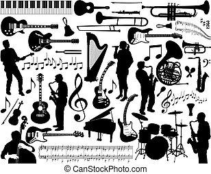 música, elements.