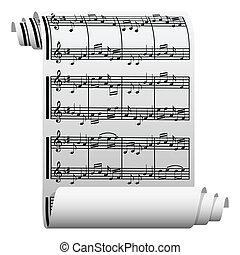 Música escrita en papel