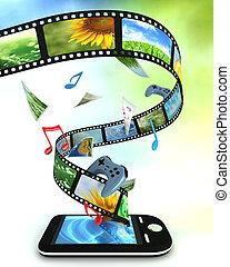 música, smartphone, juegos, fotos, vídeo