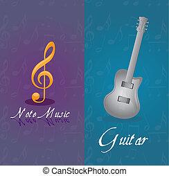 Música y guitarra